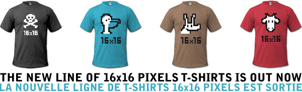 16x16 pixels t-shirts graphic design