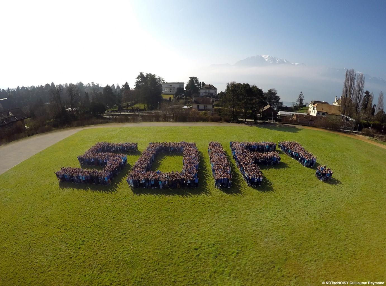 SOIF! Le logo humain du Gymnase de Burier