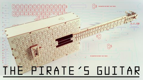 Pirate's Guitar/Ukulele (laser cut DIY kit)