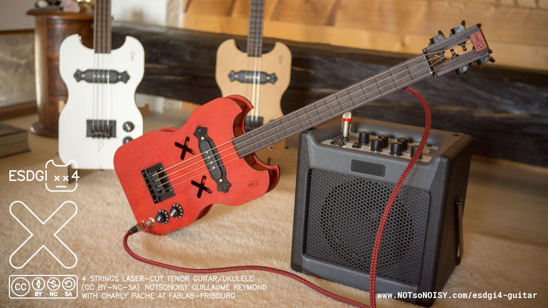 Esdgi4 tenor guitar/ukulele (laser cut DIY kit)