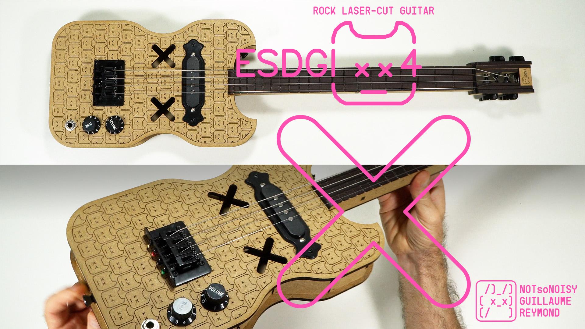 ESDGI4 laser cut guitar ukulele