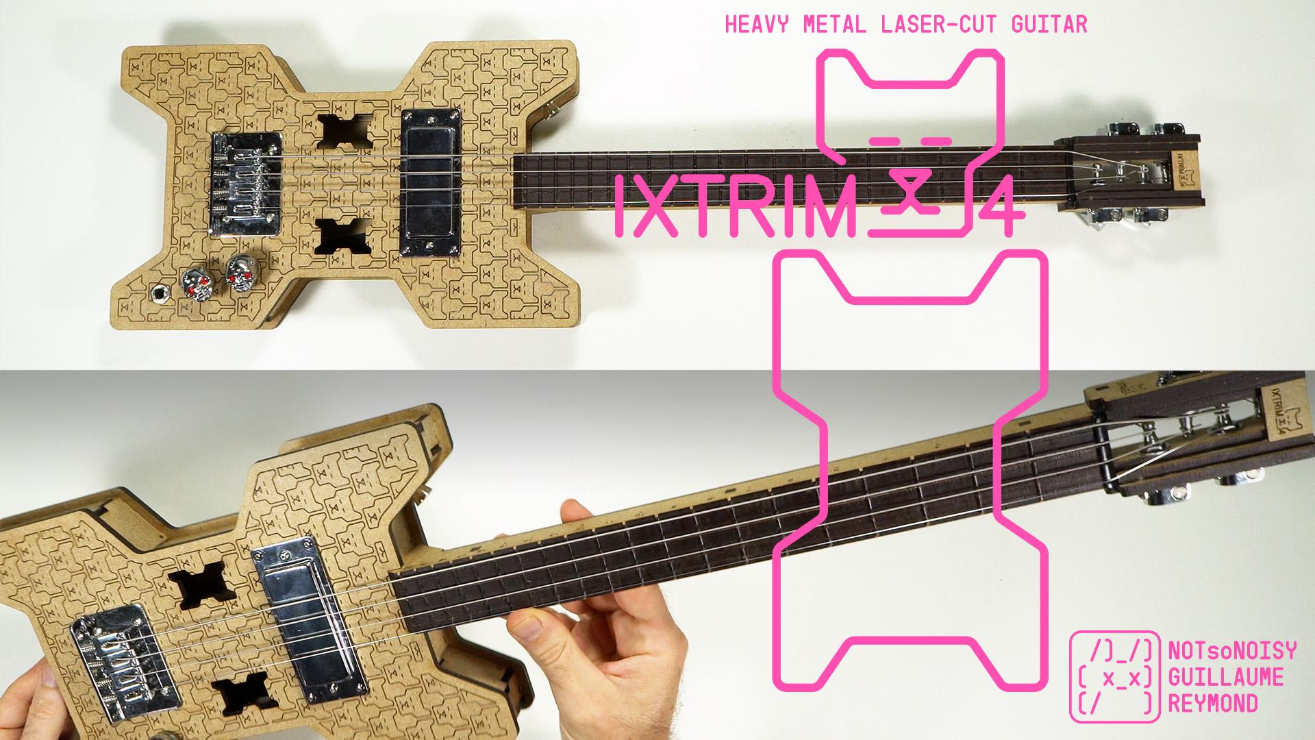 IXTRIM4 laser cut guitar ukulele