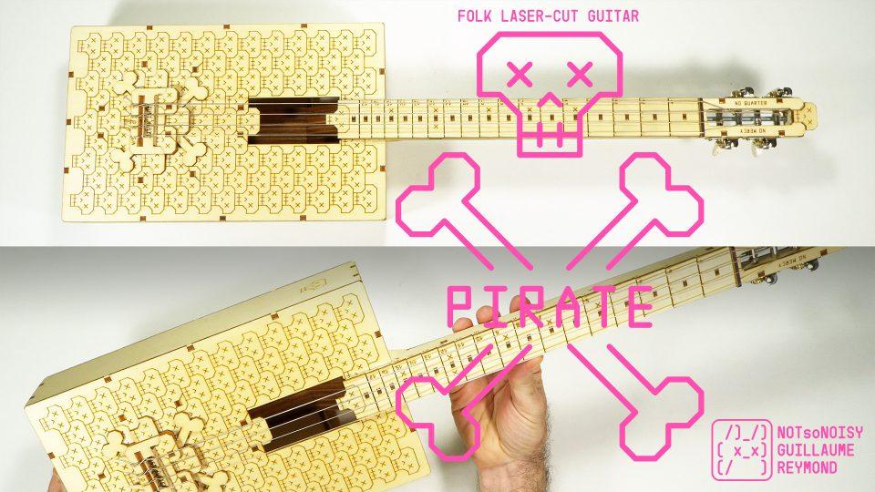 Pirate's Guitar  laser cut cigar box