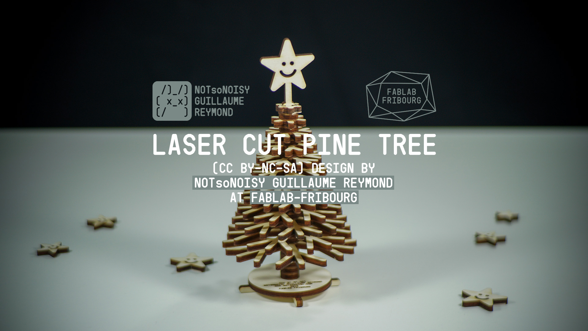 Christmas laser-cut Pine tree
