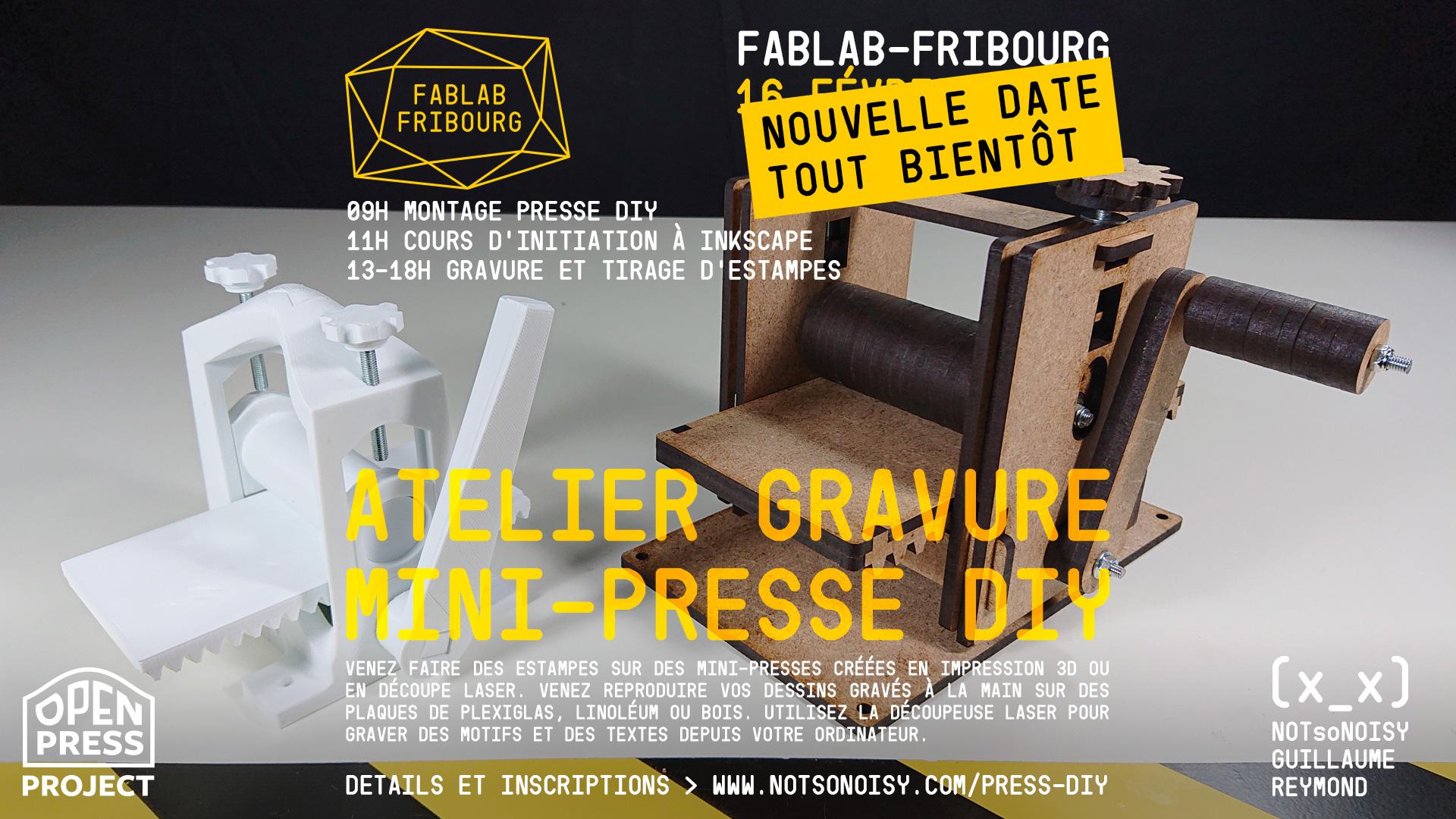 Atelier estampes sur mini-presses DIY