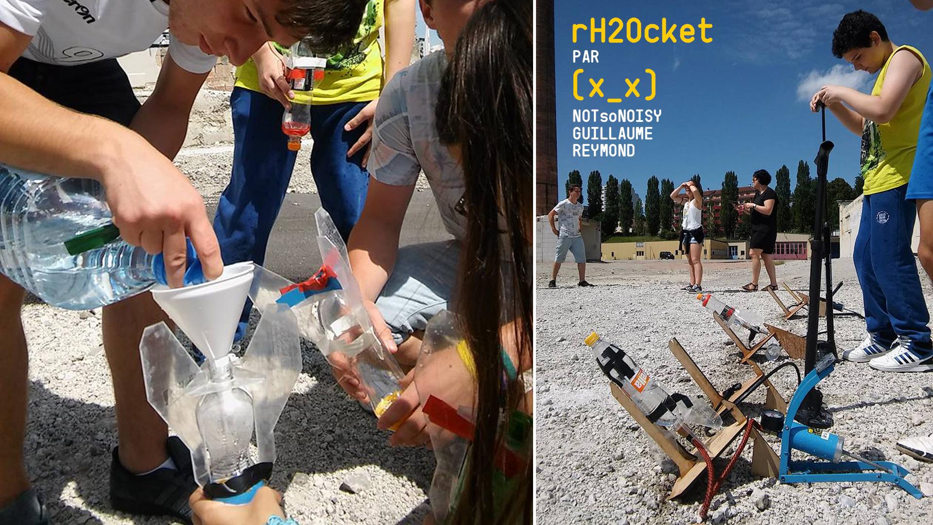 Atelier Fusée à eau rH2Ocket