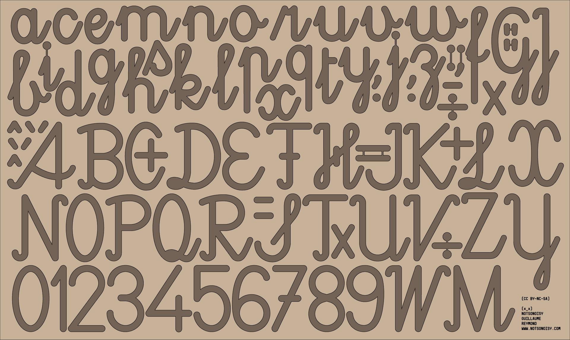 alphabet en découpe laser