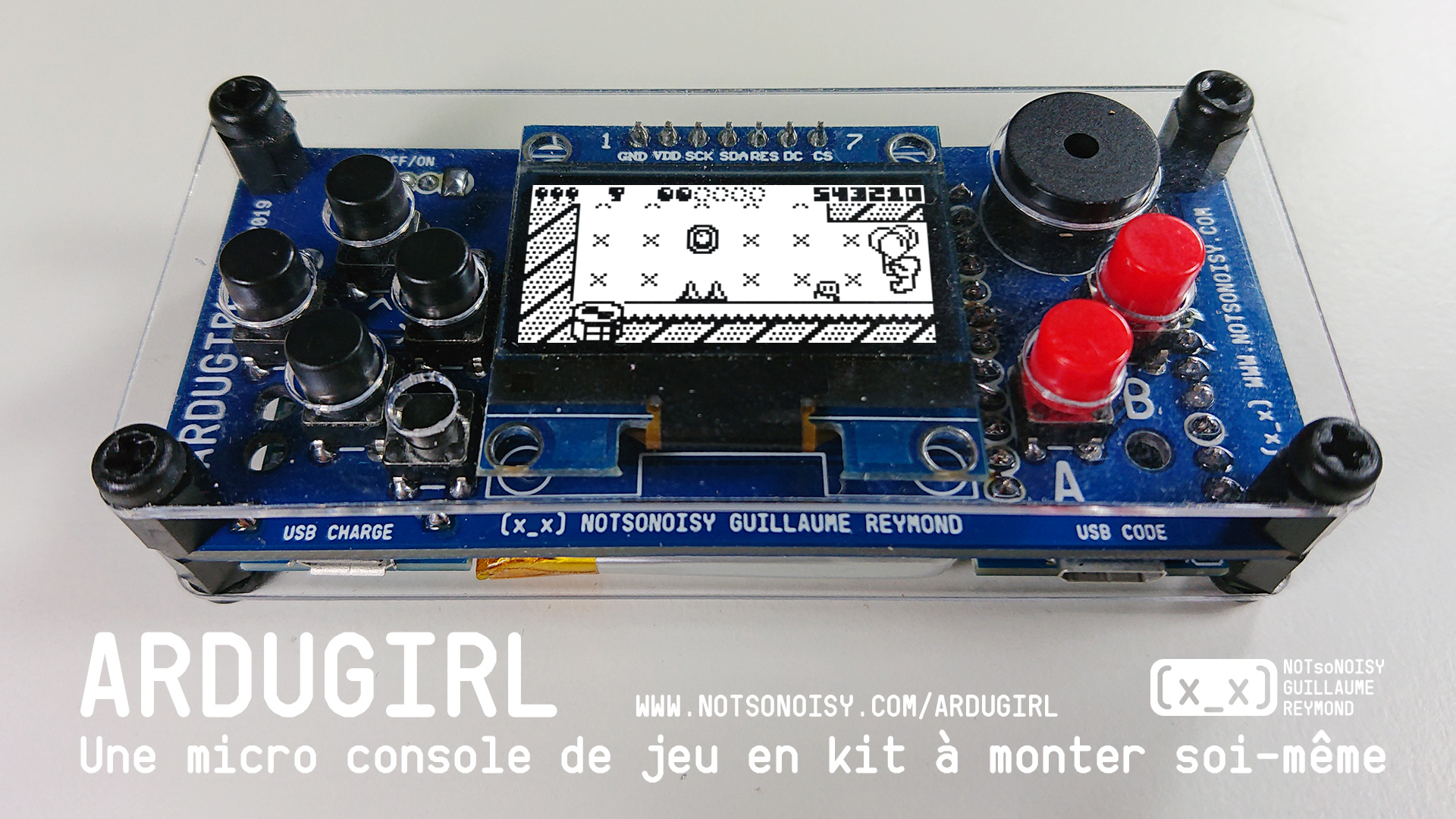 ArduGirl DIY retro game console