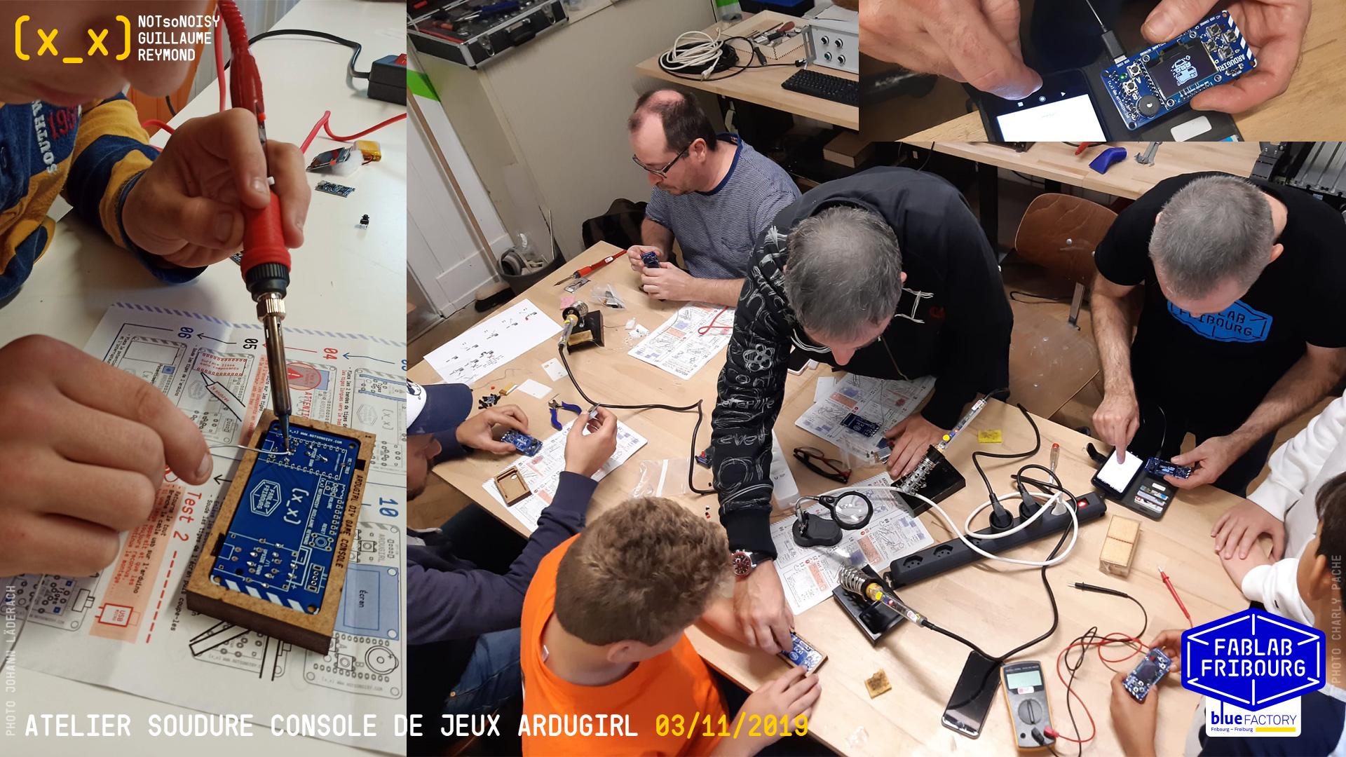 Atelier Ardugirl au Fablab-Fribourg