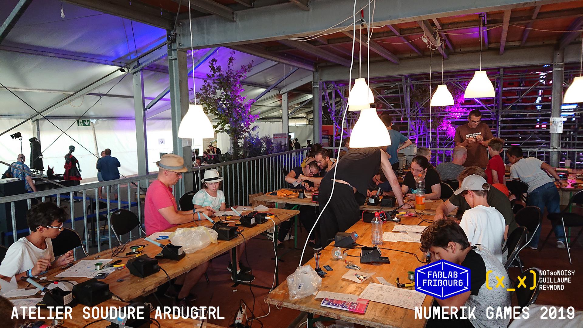Atelier et stand au Numerik Games d'Yverdon